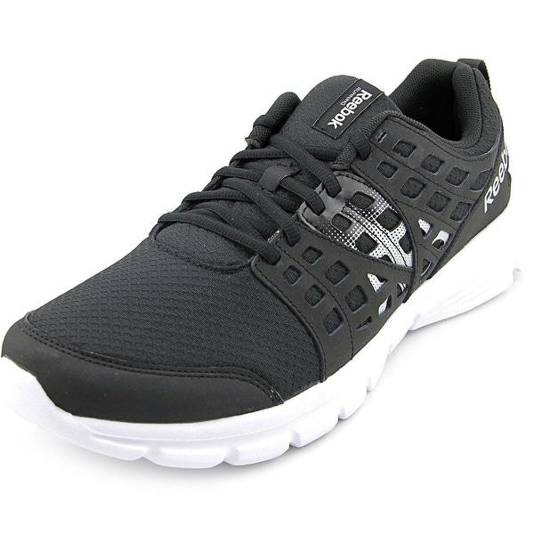 Reebok Speed Rise Men Round Toe Canvas Black Running Shoe