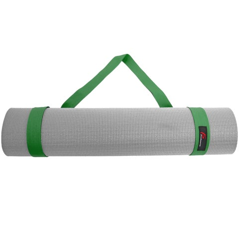 ProSource Yoga Mat 100% Durable Cotton Easy-Cinch Sling Carry Strap Harness Carrier - Green