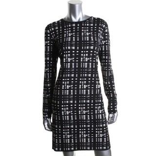 MICHAEL Michael Kors Womens Matte Jersey Printed Wear to Work Dress - M