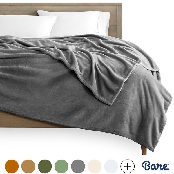 Bare Home Microplush Fleece Blanket - Ultra-Soft Velvet Bed Blanket. Opens flyout.