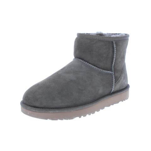 Ugg Womens Classic Mini II Casual Boots Suede Lined