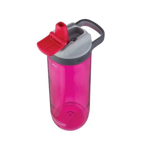 Rubbermaid 2000833 Plastic Water Bottle, Pink, 20 Oz