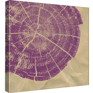 "PTM Images 9-97828  PTM Canvas Collection 12"" x 12"" - ""Chopped 14 - Violet"" Giclee Patterns and Designs Art Print on Canvas"