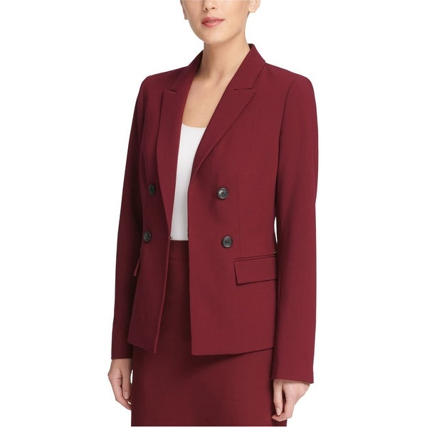 DKNY Womens Button Embellished Blazer Jacket, Red, 18. Opens flyout.