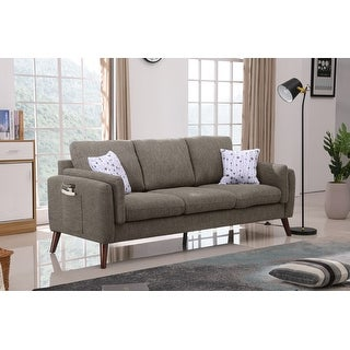 Link to Winston Fabric Living Room Sofa Couch with USB Charger and Tablet Pocket Similar Items in Sofas & Couches