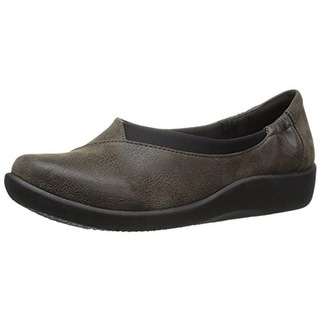 Clarks Womens Sillian Jetay Textured Casual Flats - 6.5 wide (c,d,w)