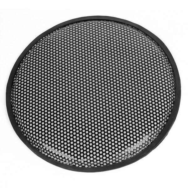 "Unique Bargains Black 11.8"" Round Metal Mesh Vehicle Car Speaker Sub Box Subwoofer Grill Cover"