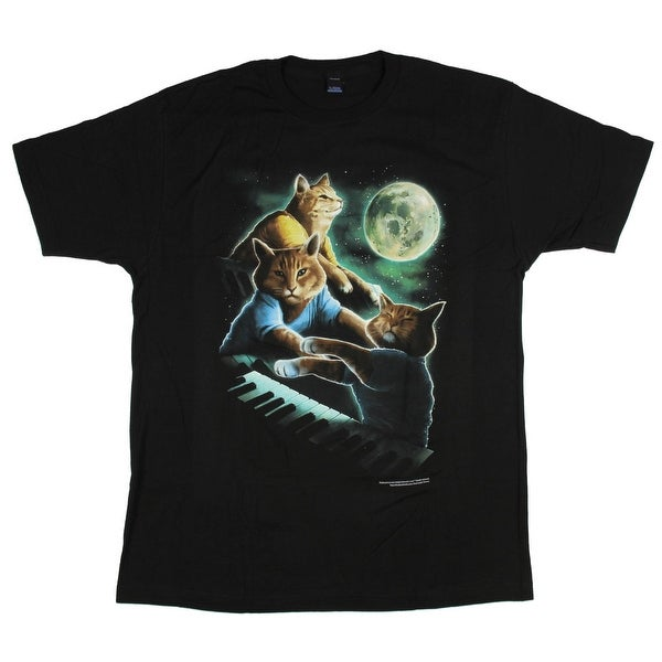 847e34a0fcfaf Shop Keyboard Cat Moon T-Shirt - Free Shipping On Orders Over $45 -  Overstock - 20641148