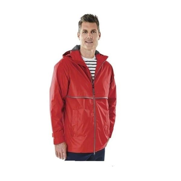 Charles River Men's Englander Rain Jacket Medium Red. Opens flyout.