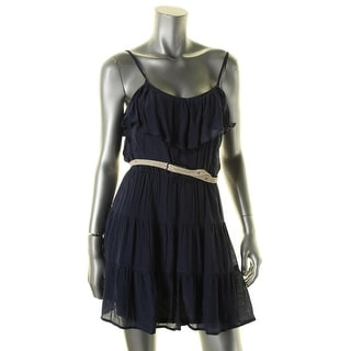 Jessica Simpson Womens Juniors Jayden Casual Dress Crepe Embroidered - L