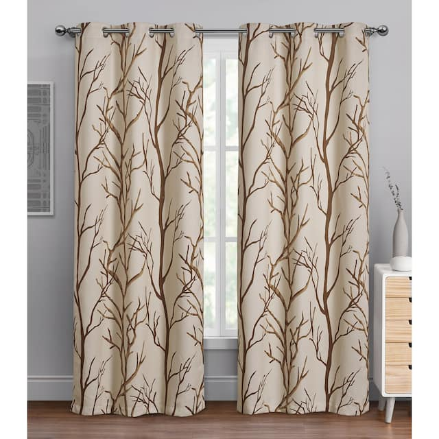 """VCNY Home Kingdom Branch Blackout Curtain Panel - 42"""" x 84"""" - Taupe"""