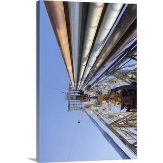 """""""Oil drilling rig"""" Canvas Wall Art"""