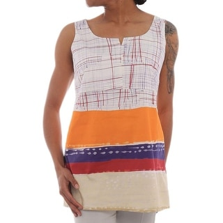 Lavia Sleeveless Square Neck Tunic Women Regular Tunic Top