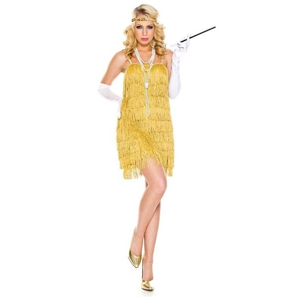 e258102db66a4 4 Piece Shiny All Around Flapper Lustrous Dress with Headpiece,