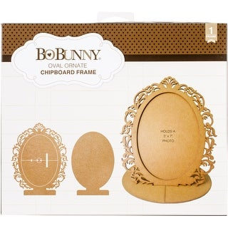 Oval Ornate - BoBunny Essentials Laser-Cut Chipboard Frame