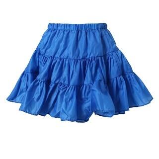 Richie House Little Girls Lapis Lightweight Ruffled Skirt 4