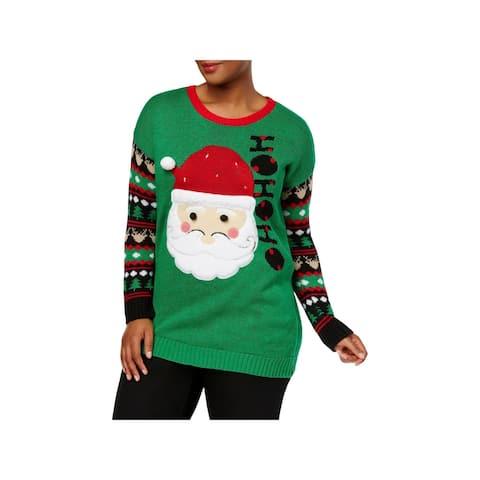 Derek Heart Womens Plus Santa Claus Crewneck Sweater Holiday Light Up - 3X
