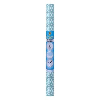 Duck Deco Adhesive Laminate Shelf Liner, Mint Green Lattice, 20 Inches x 12 Feet - N/A