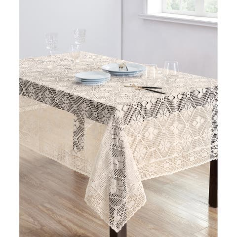 Delicate Crochet Tablecloth