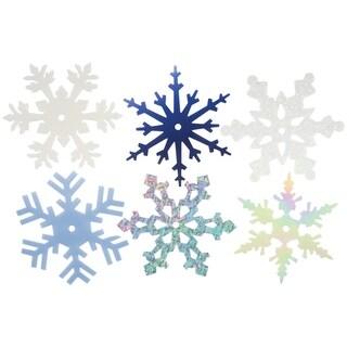 "Large Shimmer Snowflakes 2"" 50/Pkg-"