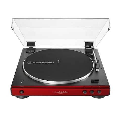 Audio-Technica AT-LP60XBT Bluetooth Automatic Stereo Turntable (Red)