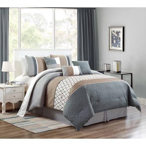 Oquirrh Furnishings Polyester Microfiber 7pc Luxury Comforter Set