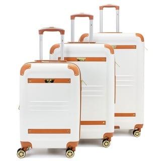 19V69 Italia Vintage Hard Expandable Spinner Luggage Set (3-Piece)