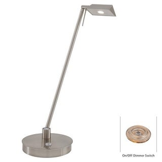 Kovacs P4316-084 1 Light LED Desk Lamp in Brushed Nickel from the George's Reading Room-Bivouac Collection