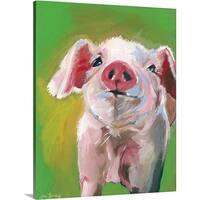 Anne Seay Premium Thick-Wrap Canvas entitled Pig