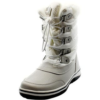 Wanted Slopes Women Round Toe Canvas White Winter Boot