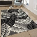 """Allstar Grey Area Rug. Contemporary. Abstract. Traditional. Geometric. Formal. Shapes. Squares (5' 2"""" x 7' 1"""") - Thumbnail 0"""