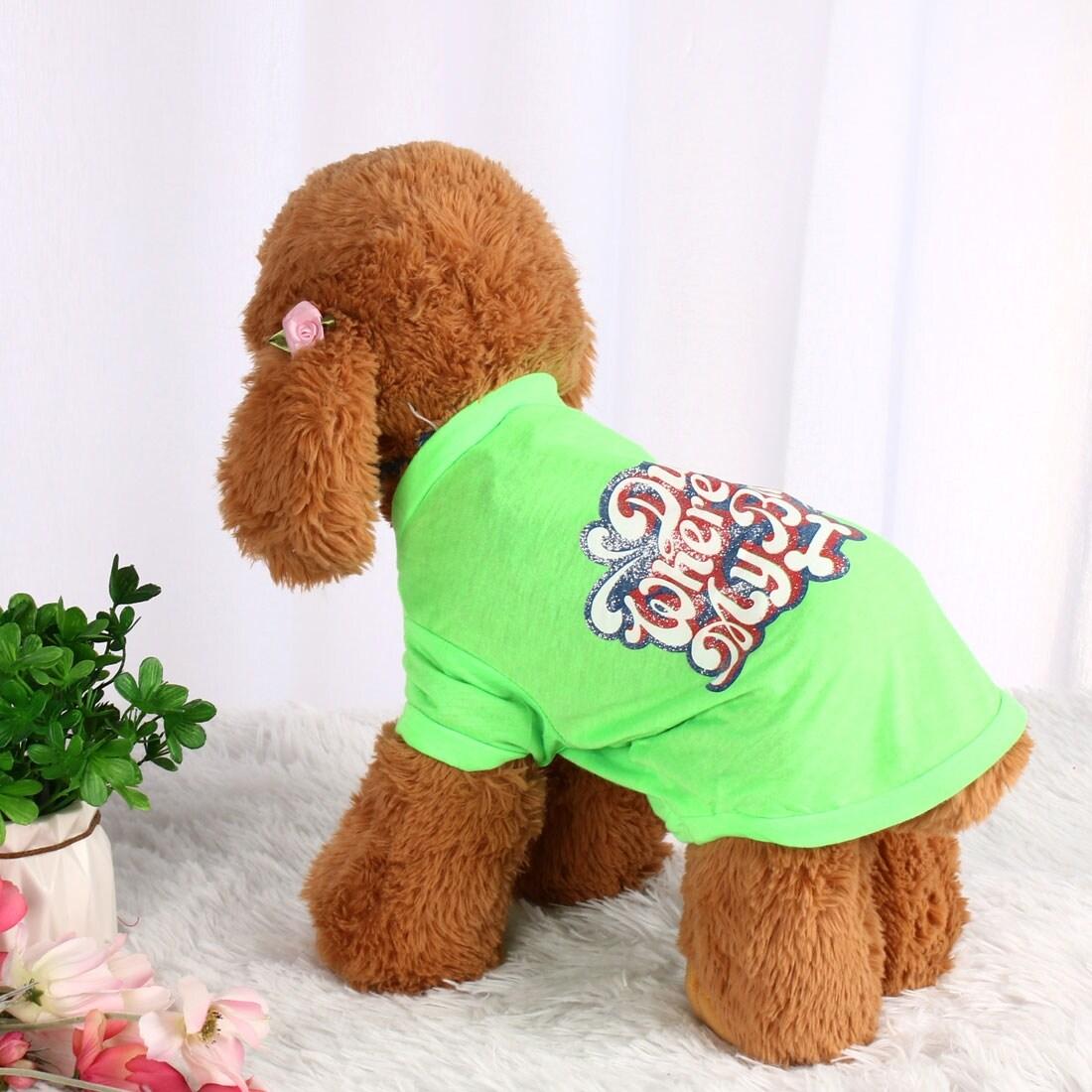 Dog T Shirt Puppy Small Pet Cat Sweatshirt Tops Clothes Apparel Vest Costume (Blue - M)