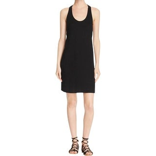 Splendid Womens Juniors Tank Dress Ribbed Knit Twist Back