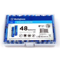 48 AA Pack Alkaline Batteries- Reusable Hard Case