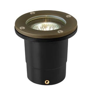 """Hinkley Lighting 16701 12v 20w Solid Brass 4"""" Diameter Landscape Flat Top Well Light from the Hardy Island Collection