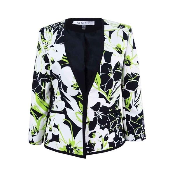 Kasper Women's Floral-Print Blazer