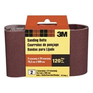 "3M 9272-2 Power Sanding Belt 3""x24"", 120 Grit, Fine"