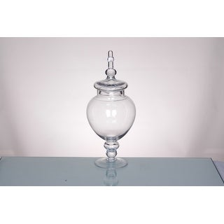 "15.5"" Clear Glass Tabletop Apothecary Jar with Lid - 11-inchx17-inch"