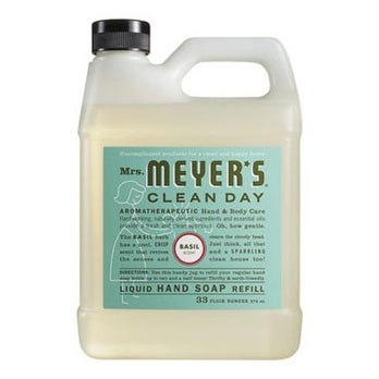 Mrs Meyers Clean Day 14163 Basil Scent Liquid Hand Soap Refill, 33 Oz.