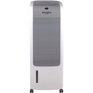 Whirlpool 155 CFM Indoor Evaporative Air Cooler, White & Gray