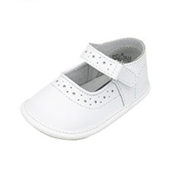 Baby Toddler Girls White Mary Jane Style Soft Sole Shoes Size 0-5