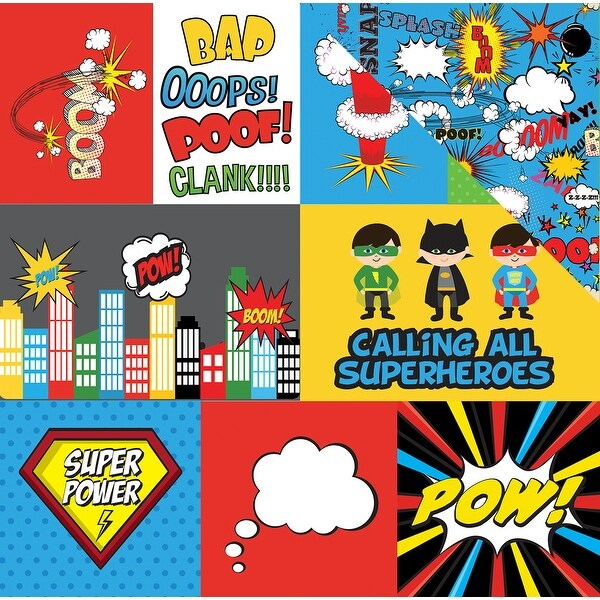 "Superhero Double-Sided Cardstock 12""X12""-Journaling Cards"
