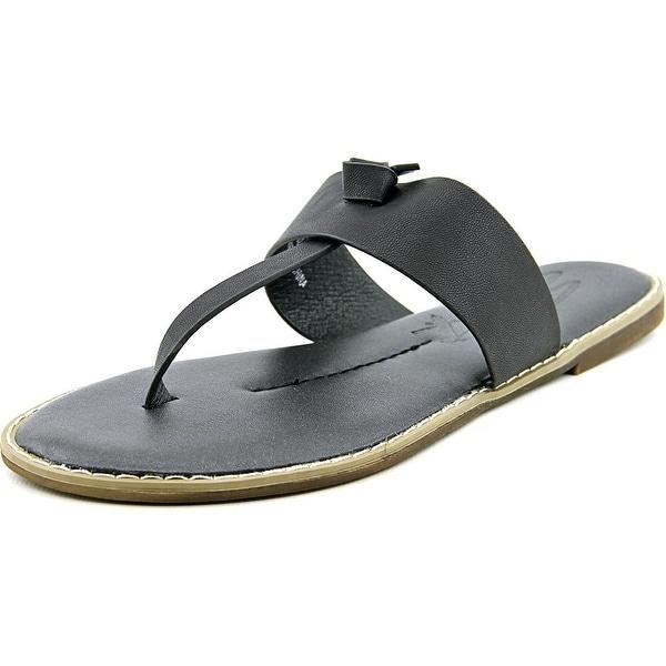 Seven7 Navo Women Open Toe Synthetic Black Thong Sandal
