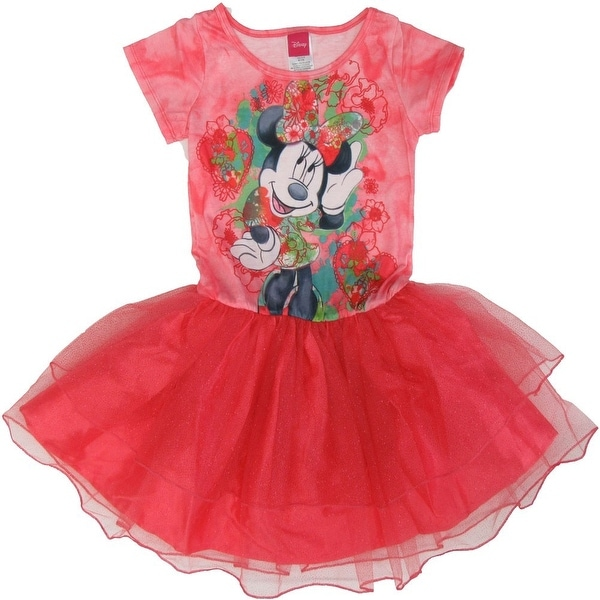 6817a23a3 Shop Disney Little Girls Red Minnie Mouse Print Short Sleeved Tutu Dress -  Free Shipping On Orders Over $45 - Overstock - 18176208
