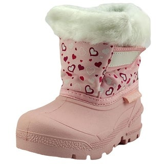 Tundra Quebec Toddler Round Toe Synthetic Pink Snow Boot