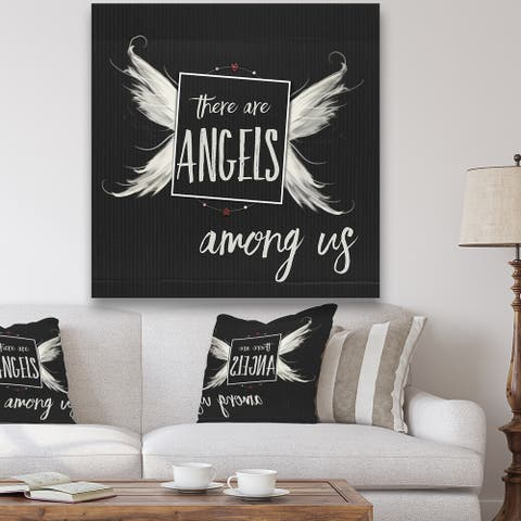 Porch & Den 'Angels Among Us' Cottage Gallery-wrapped Canvas