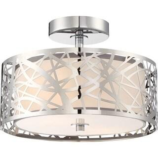 """Platinum PCAE1712 Abode 2 Light 12"""" Wide Semi Flush Ceiling Fixture"""