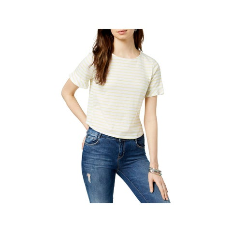 Lucky Brand Womens Casual Top Striped Short Sleeves - L