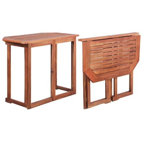 "vidaXL Bistro Table 35.4""x19.7""x29.5"" Solid Acacia Wood"