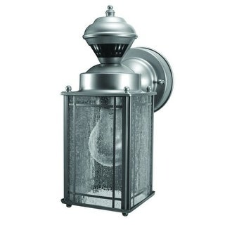 Heath Zenith HZ-4133 Shaker Cove 1 Light 150 Degree Motion Activated Outdoor Wall Sconce - Silver